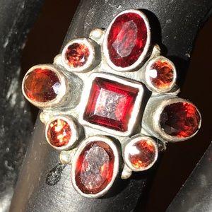 Vintage Nicky Butler Garnet Sterling Silver Ring